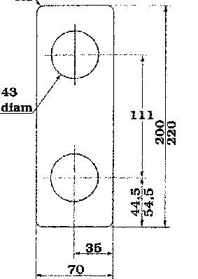 Täckskylt för modullås