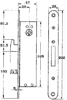 Assa låshus 13787-28
