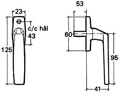 Spanjoletthandtag altandörr