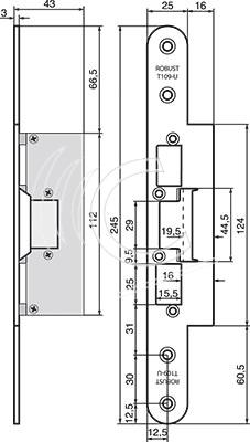 Robust monteringsstolpe T109-U