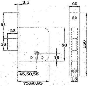 Fas låshus 131B7