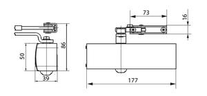 Geze dörrstängare TS1500 med standardarm